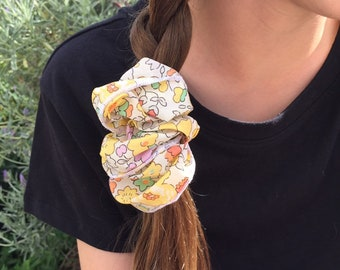 SCRUNCHIE made in Liberty Fabric - hair accessories for women and children. Liberty print Betsy W (Yellow) one