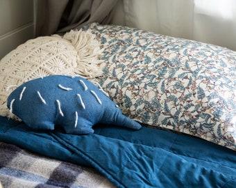 Single LUXE LIBERTY PILLOWCASE // Made with Liberty Fabrics Tana Lawn// Treetops Monkey (Blue) // Standard Size