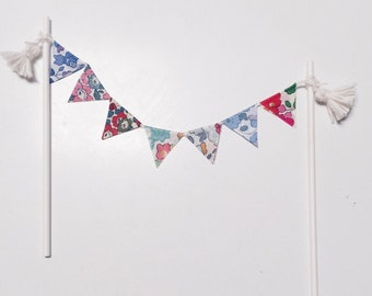 LIBERTY CAKE BUNTING topper for cake decorating