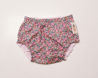 LIBERTY ROSA BLOOMERS / Diaper cover / Nappy cover Constructed from Liberty Art Cotton Tana Lawn Betsy Ann E (pink)
