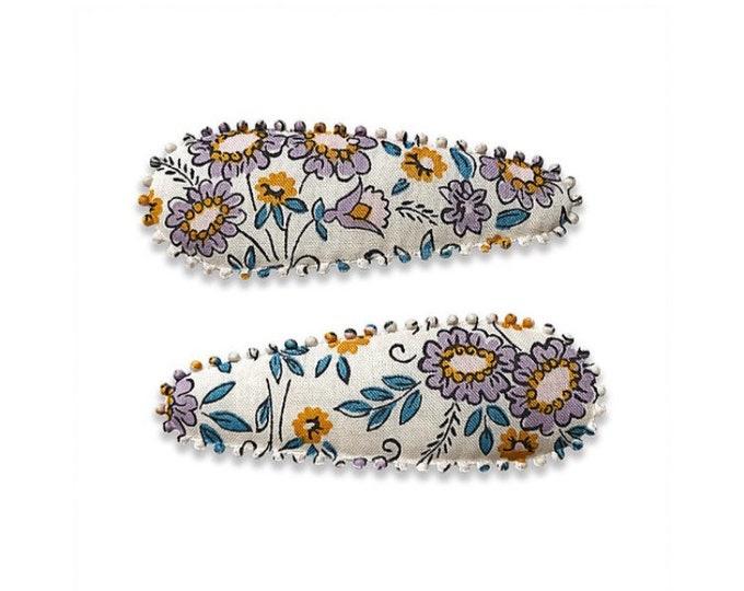 "LIBERTY FABRIC HAIRCLIPS handmade by Josie Joans ""Bernadette"""