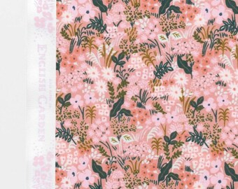 Pre-Order FABRIC SHOELACES - Rifle Paper Co. cotton fabric laces. Constructed in print English Garden - pink
