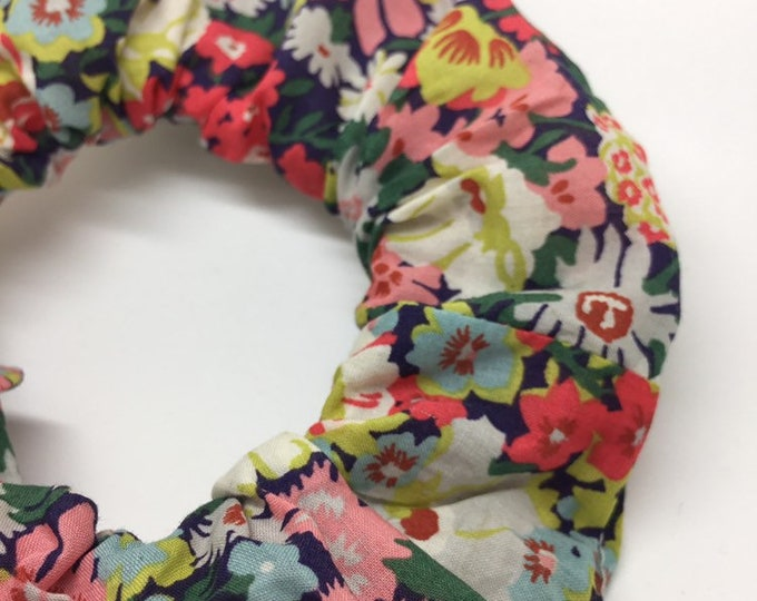 SCRUNCHIE made in Liberty Fabric - hair accessories for women and children. Liberty print THORPE (navy) one