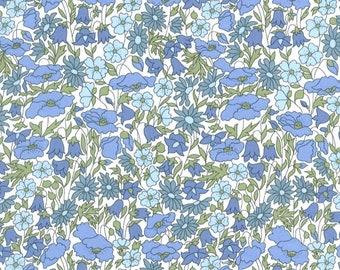 CUSTOM LISTING NICOLE // Small // Made with Liberty Fabric - Tana Lawn // Poppy + Daisy 19B blue