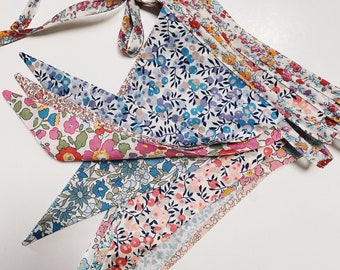 LIBERTY BUNTING Constructed from Liberty Cotton Tana Lawn 12 mixed-print flags 3 metre length.