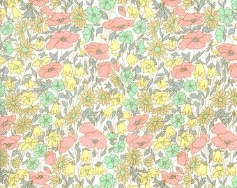 LUXE LIBERTY PILLOWCASE Made with Liberty Fabrics - Poppy+Daisy B (Peach/Lemon) Standard Size