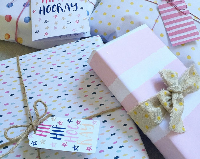 GIFT WRAP PAPER - Printed Wrapping Paper - Individual Sheets