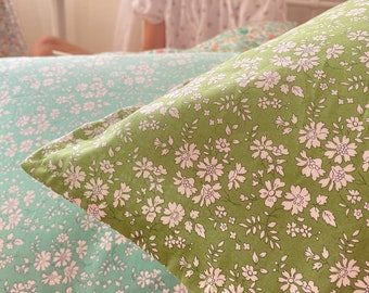 Single LUXE LIBERTY PILLOWCASE // Made with Liberty Fabric Tana Lawn// Liberty print Capel Apple // Standard Size