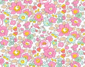 LUXE LIBERTY PILLOWCASE Made with Liberty Fabrics - Betsy 19B (Pink) Standard Size