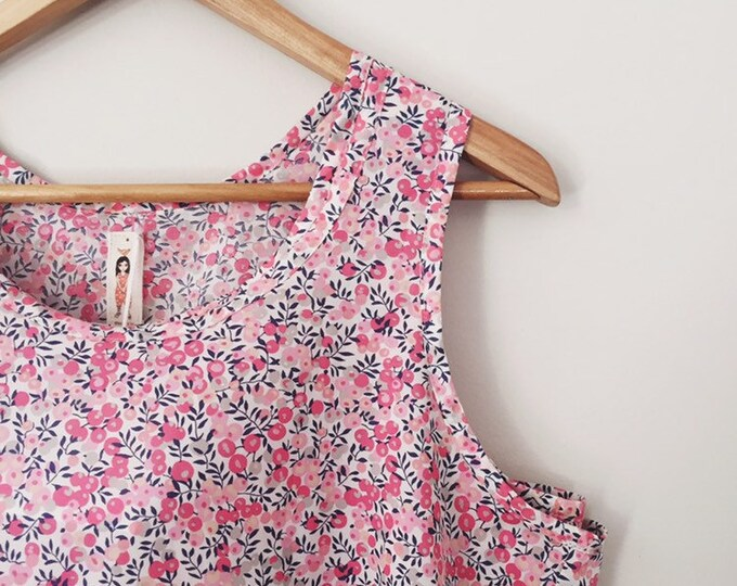 WOMEN'S TANK TOP constructed in Liberty Fabric tana lawn - Liberty print Wiltshire Apricot