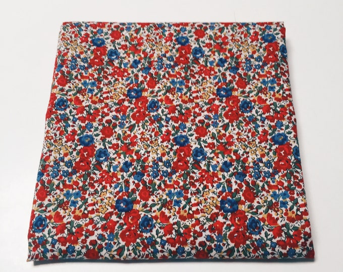 "LUXE LIBERTY PILLOWCASE constructed from Liberty print ""Emma + Georgina"" Standard size Pillow Slip 75cm x 50cm"