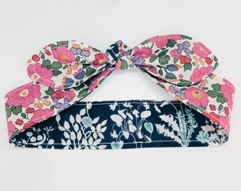 LIBERTY KNOT HEADBAND Reversable Constructed from Liberty Art Cotton Tana Lawn Betsy and Yoshi prints