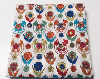 """LUXE LIBERTY PILLOWCASE constructed from Liberty print """"Folk"""" - Standard size Pillow Slip 75cm x 50cm - Also available as a set of 2"""
