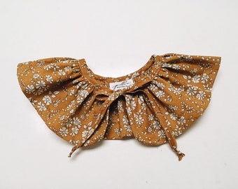 LIBERTY RUFFLE Collar // Liberty Fabric Capel G (Mustard) Children and Women's sizes