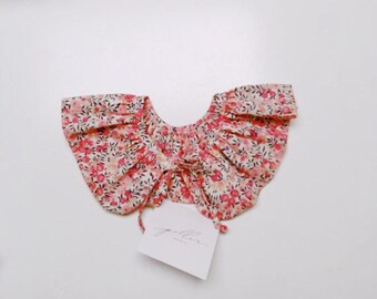 LIBERTY RUFFLE Collar Liberty Fabric Wiltshire D (apricot) Children and Women's sizes