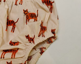 BABY BLOOMERS || made in Cotton Fabric || Tiger || unisex nappy cover