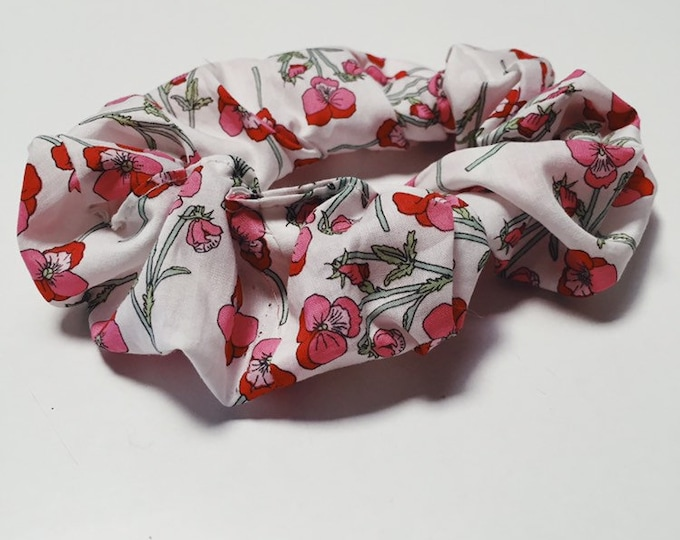 SCRUNCHIE made in Liberty Fabric - hair accessories for women and children. Liberty print MAE (pink) one