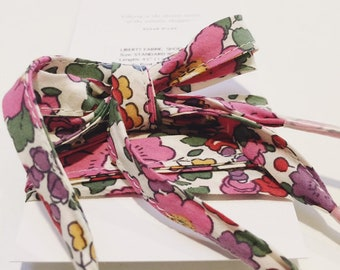 LIBERTY PRINT SHOELACES in adult and children's sizes - Betsy Ann J (pink-purple)