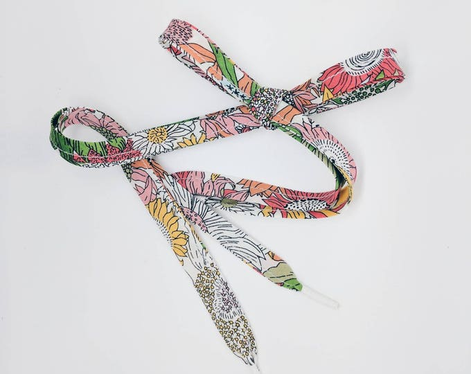 LIBERTY FABRIC SHOELACES in adult and children's sizes - Small Susanna G