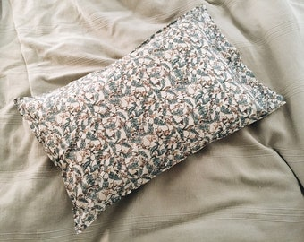 Single LUXE LIBERTY PILLOWCASE Made with Liberty Fabrics - Treetops Monkey (Blue) Standard Size