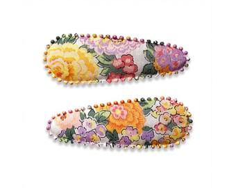 "LIBERTY FABRIC HAIRCLIPS handmade by Josie Jones ""Audrey"""
