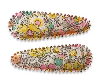"LIBERTY PRINT HAIRCLIPS handmade by Josie Jones - ""Katrina"""