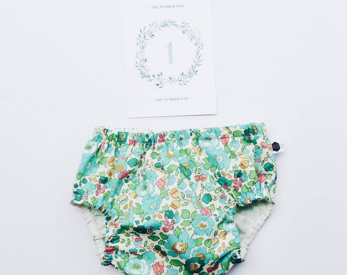 LIBERTY ROSA BLOOMERS / nappy cover /  diaper cover constructed in Liberty Fabric print Betsy D