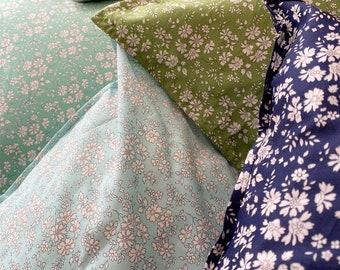 Single LUXE LIBERTY PILLOWCASE // Made with Liberty Fabrics Tana Lawn // Liberty print Capel Sky // Standard Size