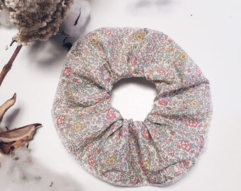 SCRUNCHIE made in Liberty Fabric - hair accessories for women and children. Liberty print Katie+Millie B (Peach) one
