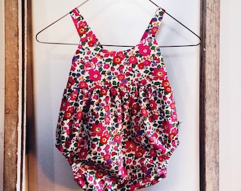 Limited Edition IVY ROMPER SUNSUIT Constructed from Liberty Art Cotton Tana Lawn 'Betsy J'