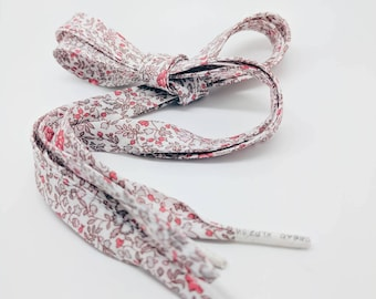 LIBERTY FABRIC SHOELACES - Katie+Millie Apricot