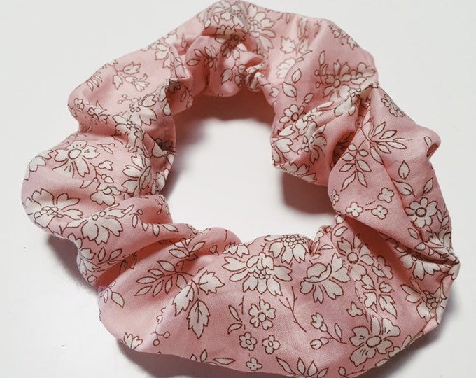 SCRUNCHIE made in Liberty Fabric - hair accessories for women and children. Liberty print CAPEL S (light pink) one