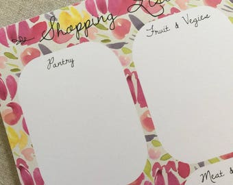 Shopping List - A5 Notepad in Blush colourway