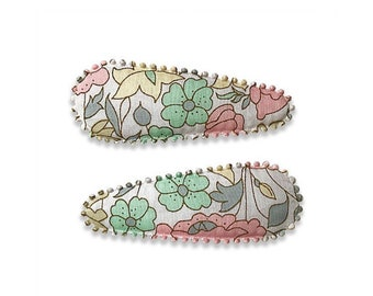 "LIBERTY Fabric HAIRCLIPS handmade by Josie Joans - ""AIRLIE"""