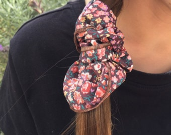 SCRUNCHIE made in Liberty Fabric - hair accessories for women and children. Liberty print Phoebe + Jo 19B (Mulberry) one
