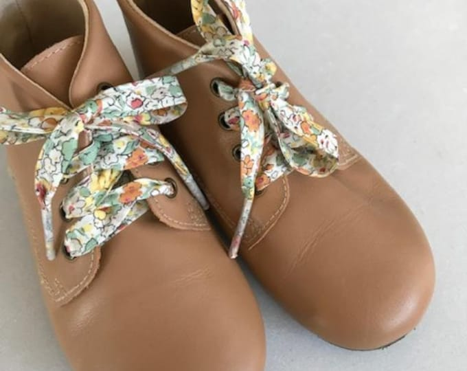 SHOELACES made in Liberty Fabric in adult and children's sizes - CLAIRE AUDE (yellow)