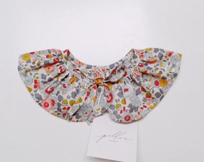 LIBERTY RUFFLE Collar Liberty Art Fabric Betsy P (grey) Children and Women's sizes