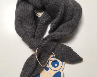CHILDREN's NECK SCARF by Blue Ullu constructed in Grey Angora Wool blend yarn. Ethically produced