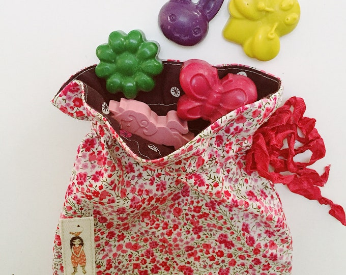 Collaboration Crayons & Liberty Storage Bag - Funny Little Things and Pollen Australia 5 crayons