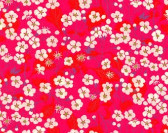 LIBERTY PRINT SHOELACES in adult and children's sizes - Mitsi B (hot pink)