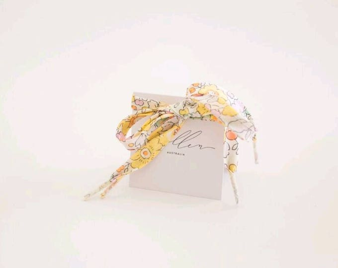 LIBERTY PRINT SHOELACES in adult and children's sizes - Betsy Yellow