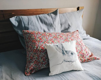 LIBERTY COTTON PILLOWCASE constructed from Liberty Tana Lawn in Betsy S