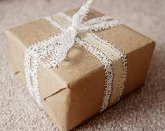 ADD GIFT WRAPPING - Brown paper with Liberty Print accents