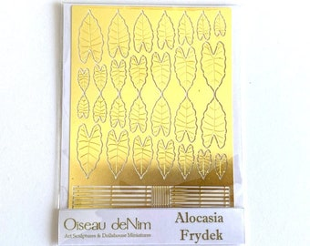 Plants Serie 006 Alocasia Frydek for Diorama Scenes Dollhouse Miniatures