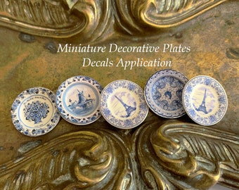 Miniature Decorative Plates - Decals Application Tutorial English Version