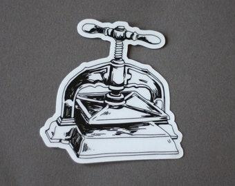 Bookbinding press sticker • TRANSPARENT