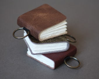 Portable watercolour sketchbook • mini leatherbound journal • CP paper by St Cuthberts Mill UK