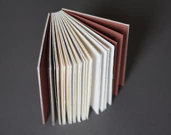 Artist sketchbook • white ombre • zero waste coptic binding