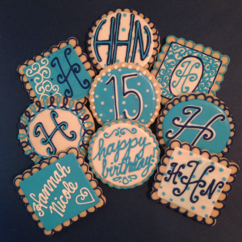 Birthday Cookies Personalized 1 Dozen Minimum 2 Weeks