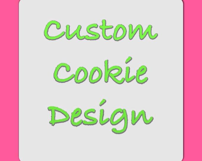 Custom Cookies for Oliver's BDay-2 Dozen